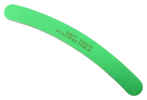 Купить Пилка Soft Touch Neon Curved Fine, Зеленая, 240 грит