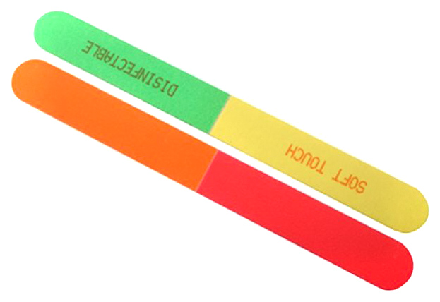 Купить Пилка Soft Touch 4-Way Neon, 100/180/240/320