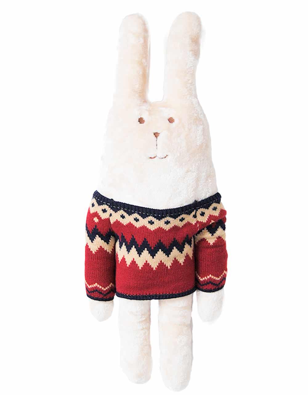 Купить Животные, заяц, Мягкая игрушка Craftholic заяц в свитере Nordic RAB, M, Мягкие игрушки животные