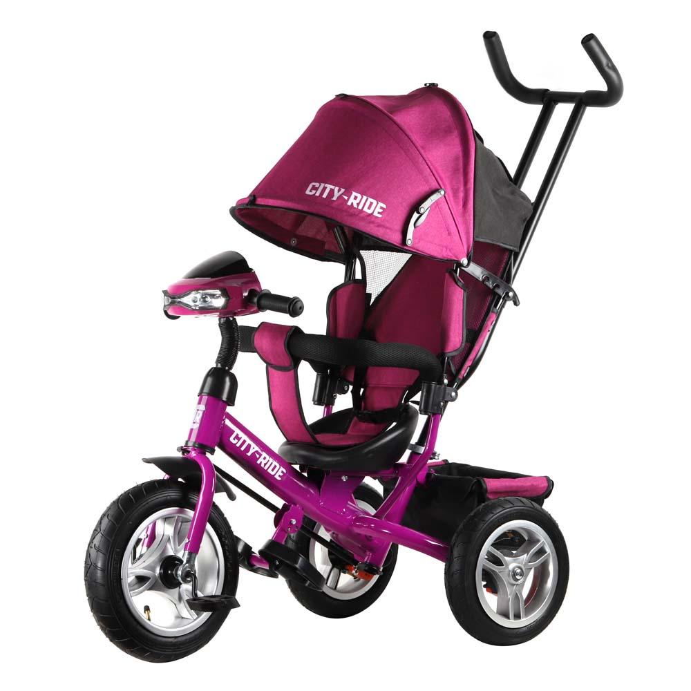 Трехколесный велосипед City-Ride колеса надувка 12/10 CR-B3-05PK розовый