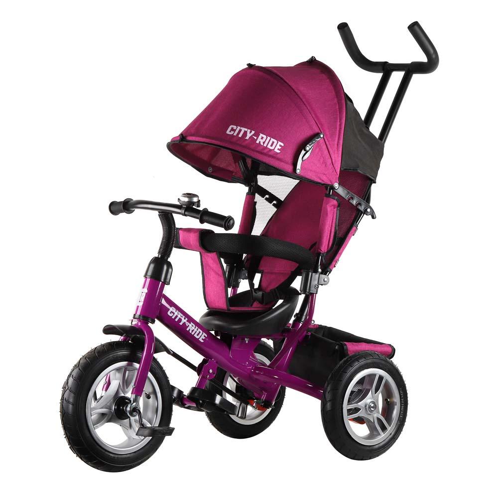 Трехколесный велосипед City-Ride колеса надувка 12/10 CR-B3-04PK розовый