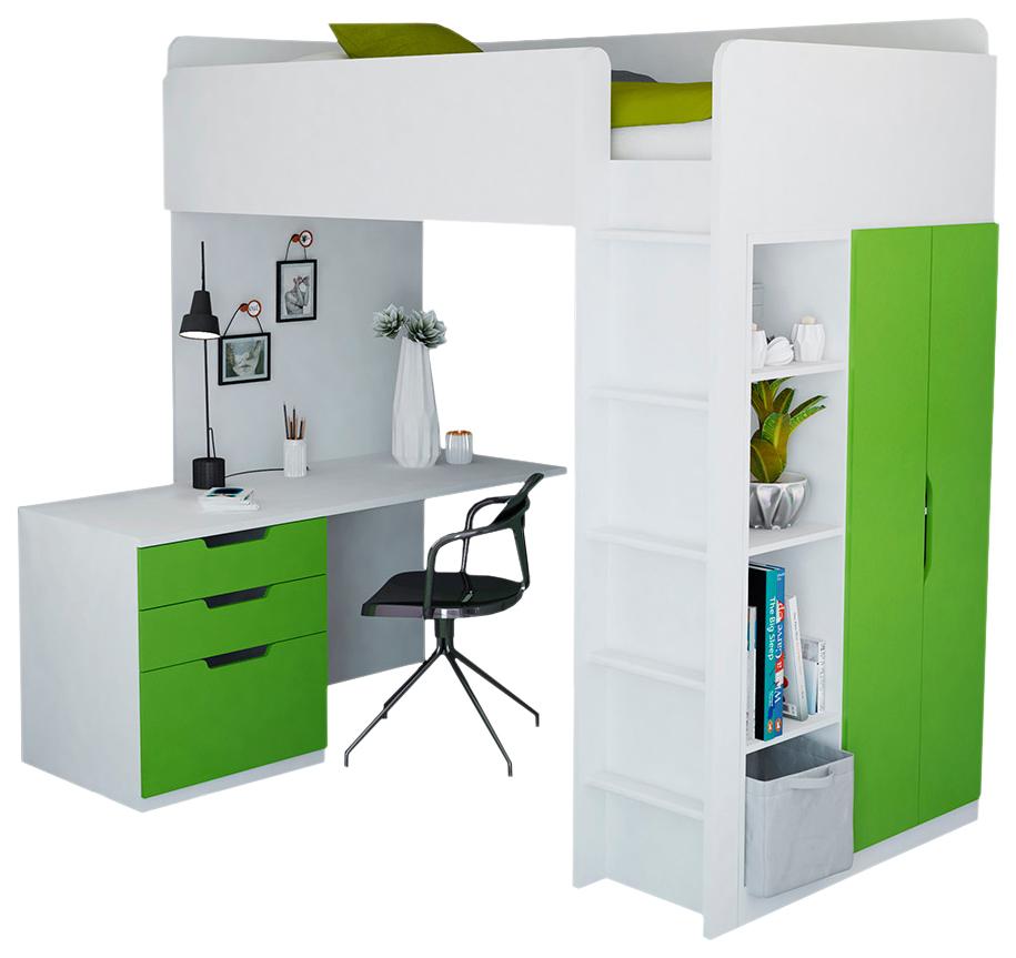 Кровать чердак Polini Kids Simple