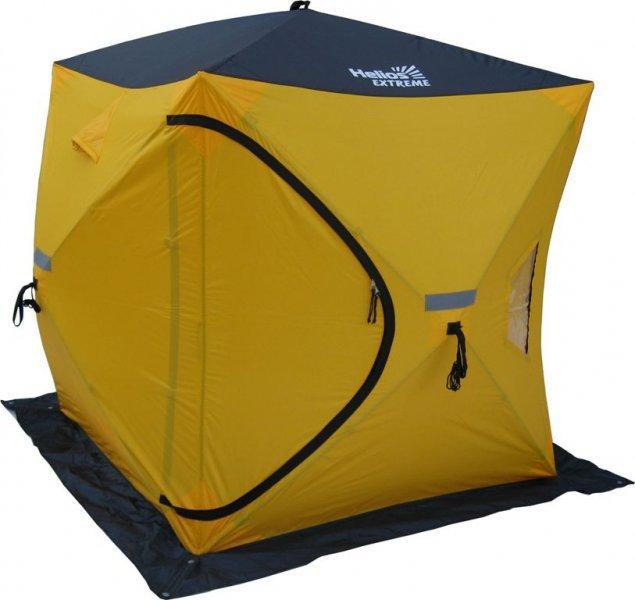 Палатка для рыбалки Helios Куб Extreme двухместная желтая