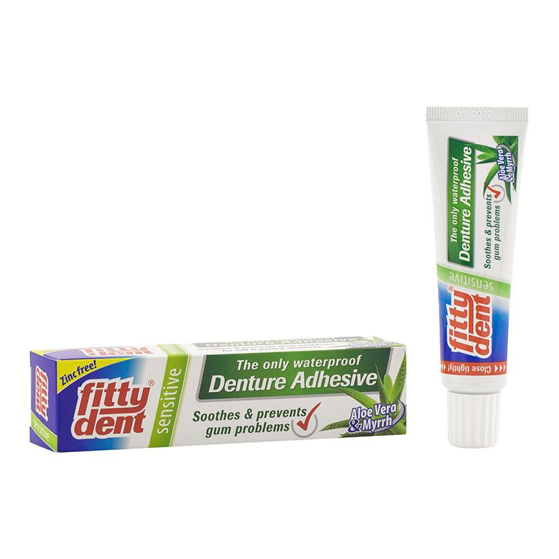 Крем Fittydent Sensitive для фиксации съемных зубных