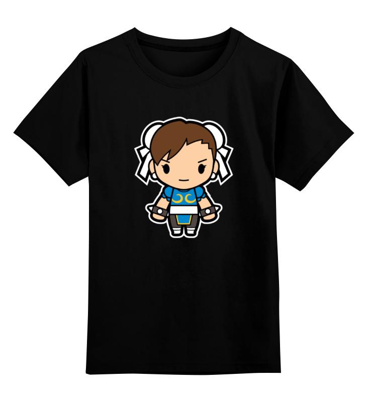 Детская футболка Printio Chun-li street fighter цв.черный р.140 0000000772334 по цене 990