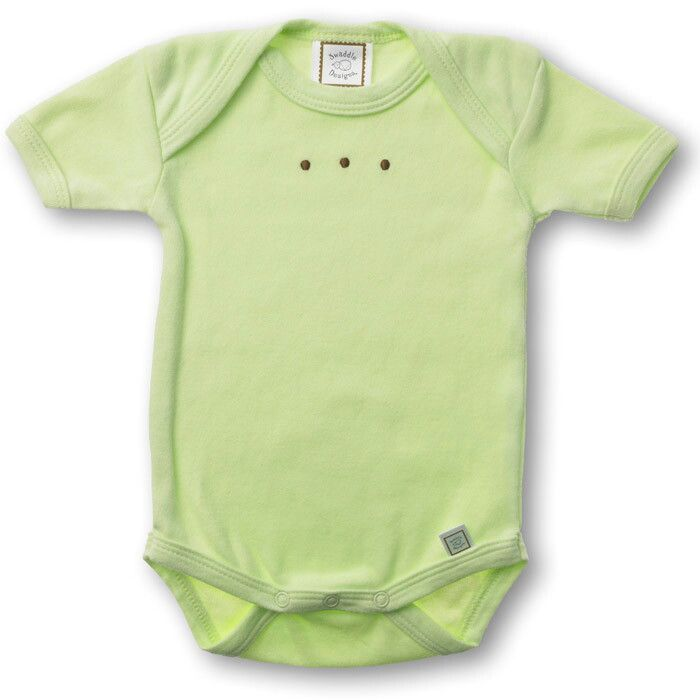 Купить SD-206KW, Боди с коротким рукавом SwaddleDesigns KW w/Mocha Dots, размер 62, Боди для новорожденных