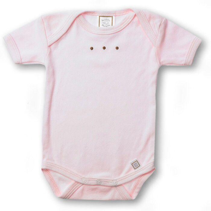 Купить SD-206PP, Боди с коротким рукавом SwaddleDesigns PP w/Mocha Dots, размер 62, Боди для новорожденных