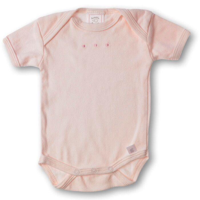 Купить SD-212PP, Боди с коротким рукавом SwaddleDesigns Lt Pink w/PP Dots, размер 68, Боди для новорожденных