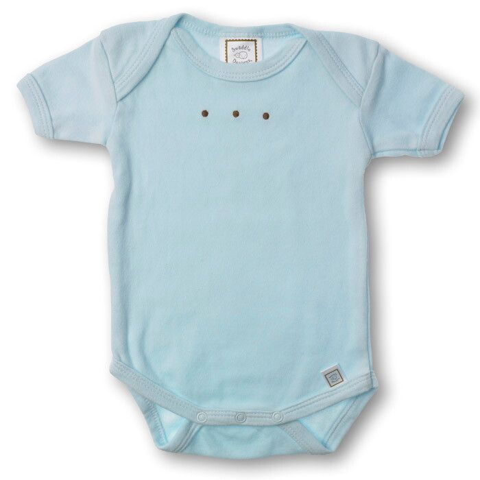 Купить SD-206PB, Боди с коротким рукавом SwaddleDesigns PB w/Mocha Dots, размер 68, Боди для новорожденных