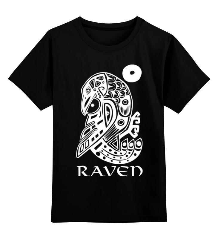 Детская футболка Printio Raven brand цв.черный р.140 0000000769815 по цене 990