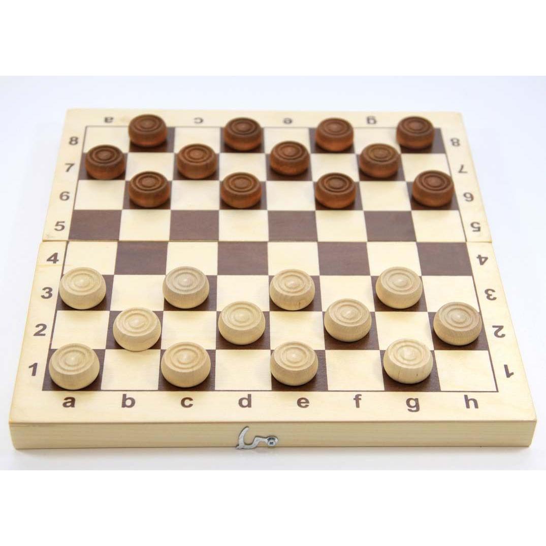 Настольная игра Десятое Королевство Шашки деревянные 2841