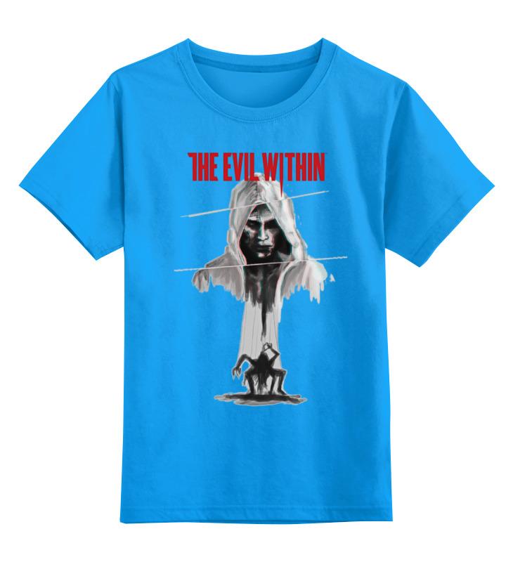Купить 0000000755799, Детская футболка Printio The evil within цв.голубой р.152,