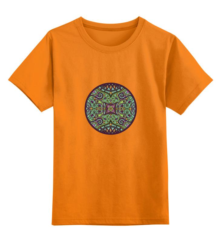 Купить 0000000751648, Детская футболка Printio Мандала цв.оранжевый р.152,