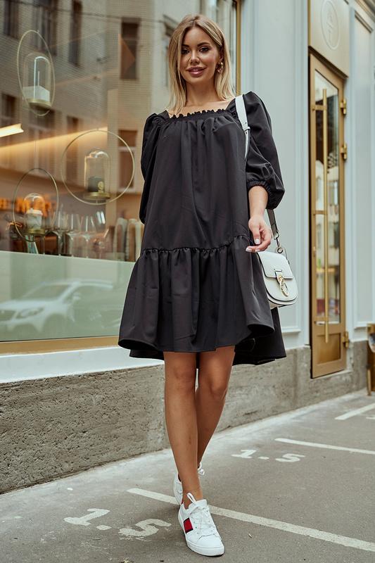 Платье женское AVEMOD AV 977 ЧЕРНое черное 42 AVEMOD   фото