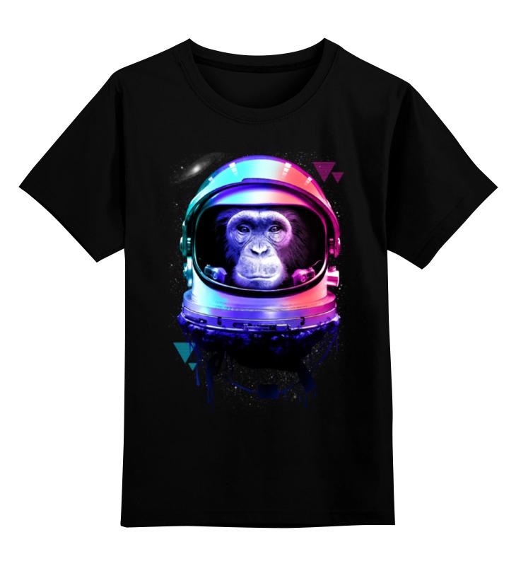 Детская футболка Printio Обезьяна космонавт цв.черный р.164 0000000765581 по цене 990