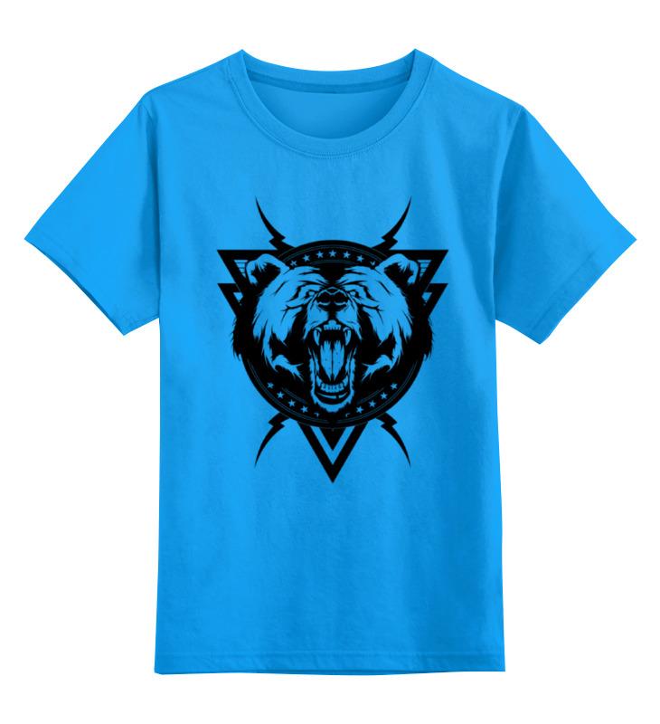 Детская футболка Printio Злой медведь цв.голубой р.164 0000000764388 по цене 990