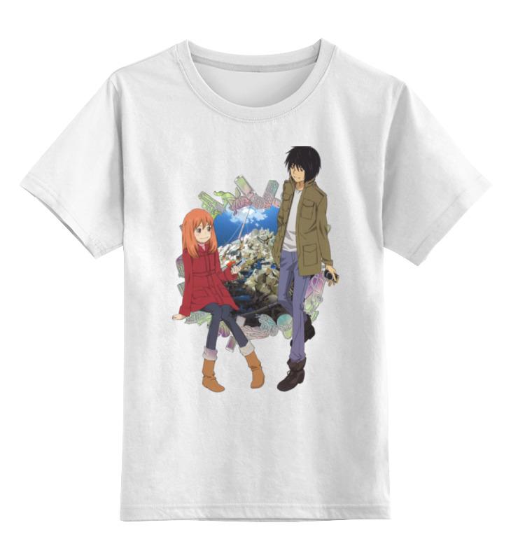 Купить 0000000763337, Детская футболка Printio К востоку от рая / eden of the east цв.белый р.164,