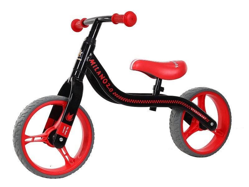 Купить Беговел Sportsbaby Milano 2.0 черно-красный, Беговелы
