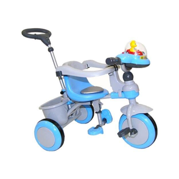 Купить Трехколесный велосипед Jaguar голубой, Детские велосипеды-коляски