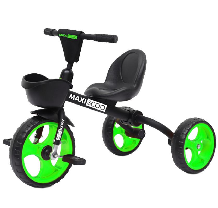 Купить Велосипед детский Maxiscoo складной салатовый, Детские трехколесные велосипеды