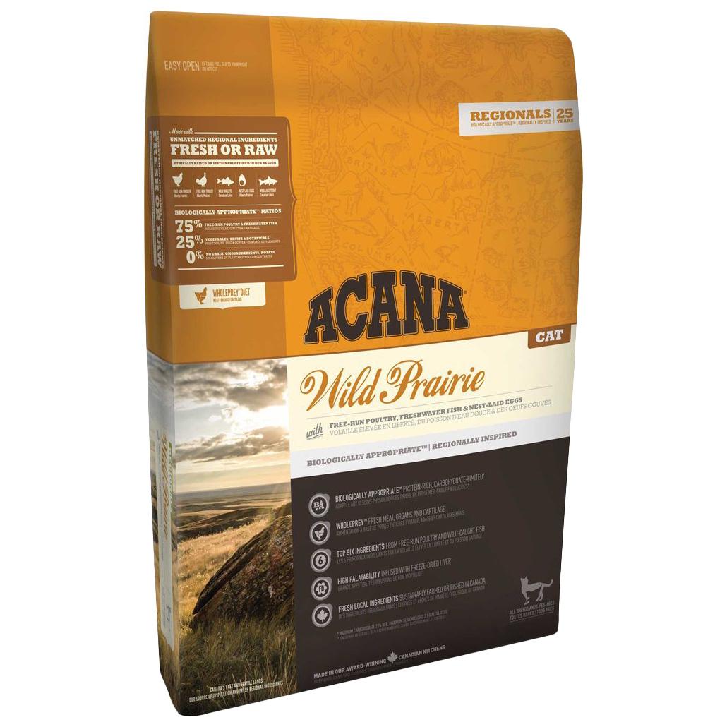 Сухой корм для кошек ACANA Regionals Wild Prairie, индейка, цыпленок, рыба, 5,4кг фото