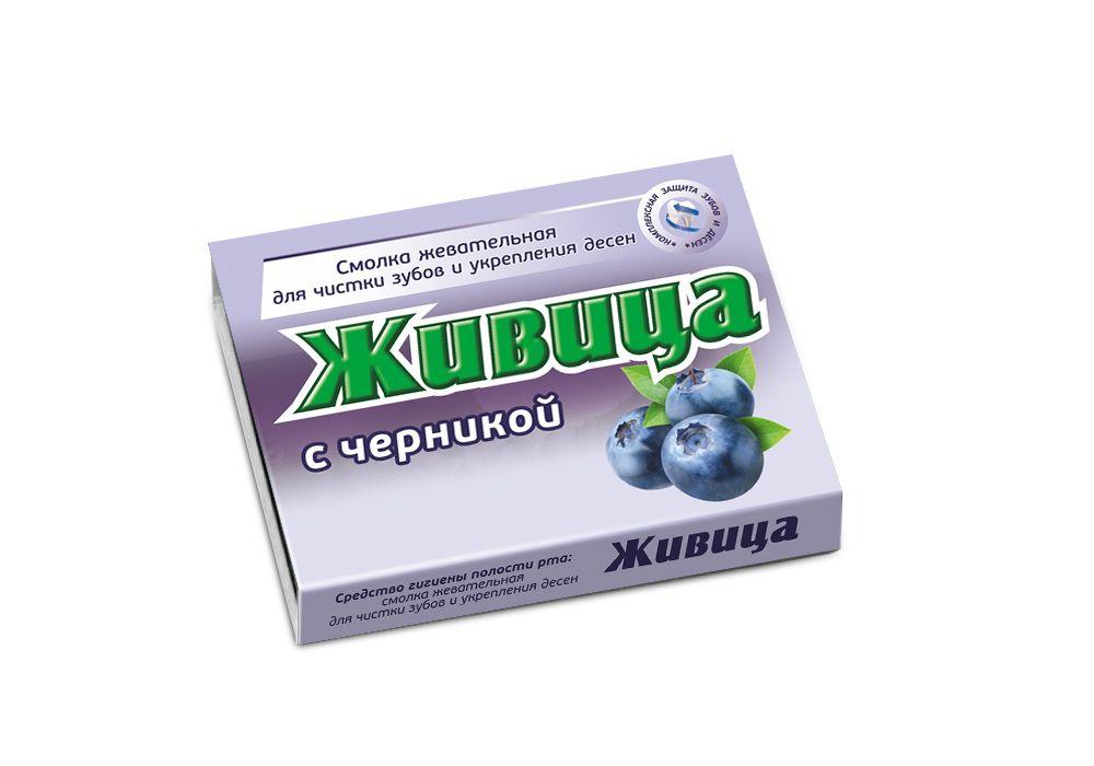 Купить Смолка жевательная с черникой, Смолка жевательная таблетки Живица с черникой 0, 8 г 5 шт.