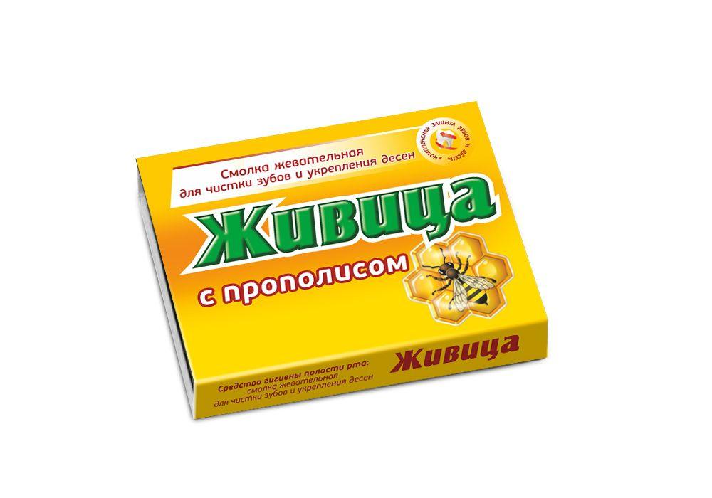 Купить Смолка жевательная с прополисом, Смолка жевательная таблетки Живица с прополисом 0, 8 г 5 шт.