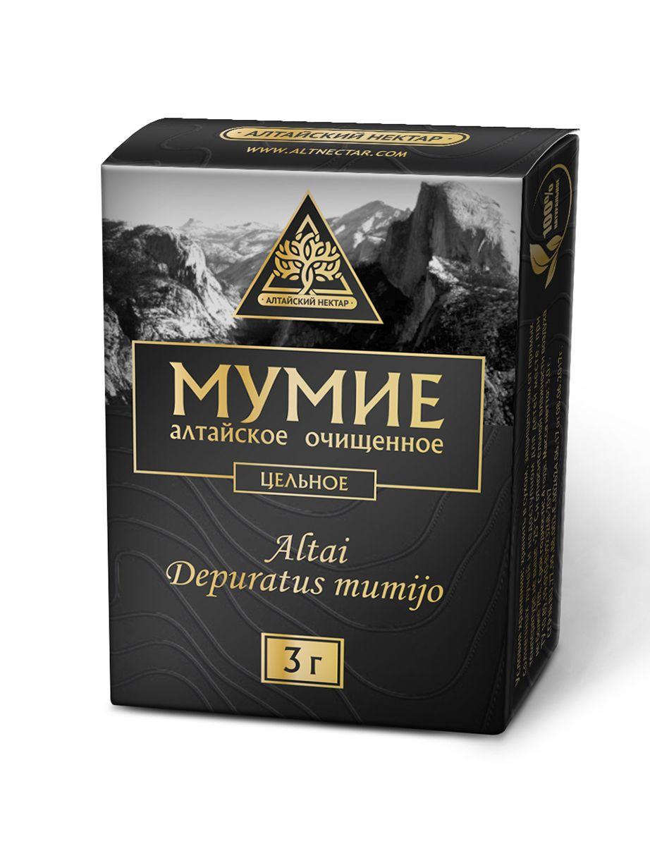 Мумие очищенное цельное, пластины по 3 г, Алтайский нектар