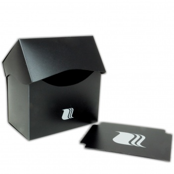 Пластиковая коробочка Blackfire горизонтальная черная, 80+ карт