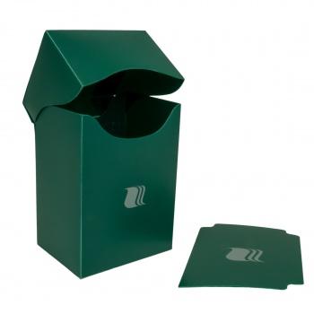 Пластиковая коробочка Blackfire вертикальная зеленая, 80+ карт