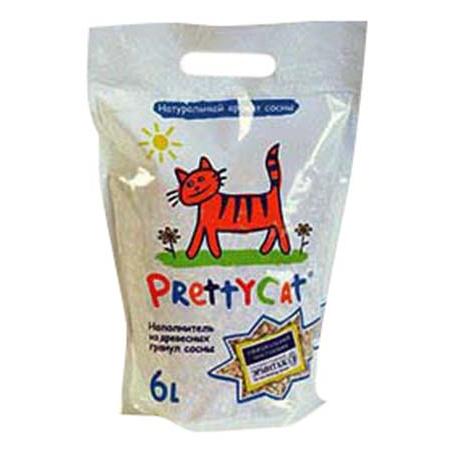 Впитывающий наполнитель для кошек PrettyCat Wood Granules древесный, 2 кг, 6 л фото