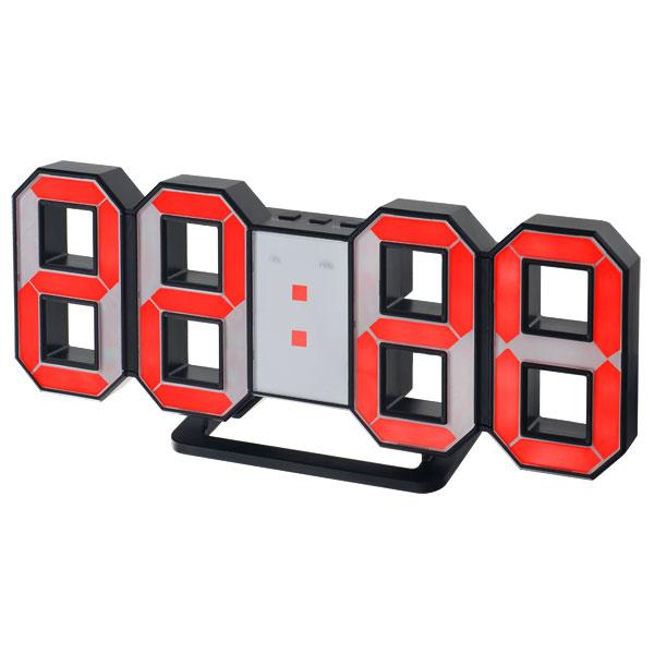 Часы будильник Perfeo LED LUMINOUS, черный корпус,