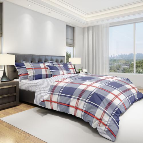 Комплект постельного белья двуспальный-евро Amore Mio, Grid 12286