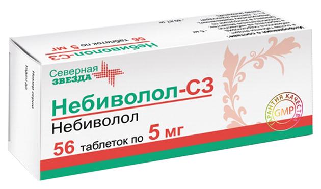 Небиволол-СЗ таблетки 5 мг 56 шт.
