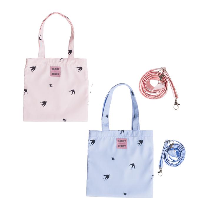 Купить Detskie 2, Комплект из 2 маленьких сумок Handy Bendy, ласточки на голубом + ласточки на розовом, Детские сумки