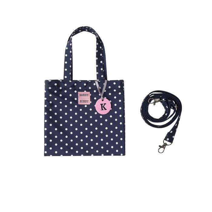 Купить Detskaya s bukvoi, Маленькая сумка Handy Bendy со съемной ручкой и медальоном, синий в горох, Детские сумки