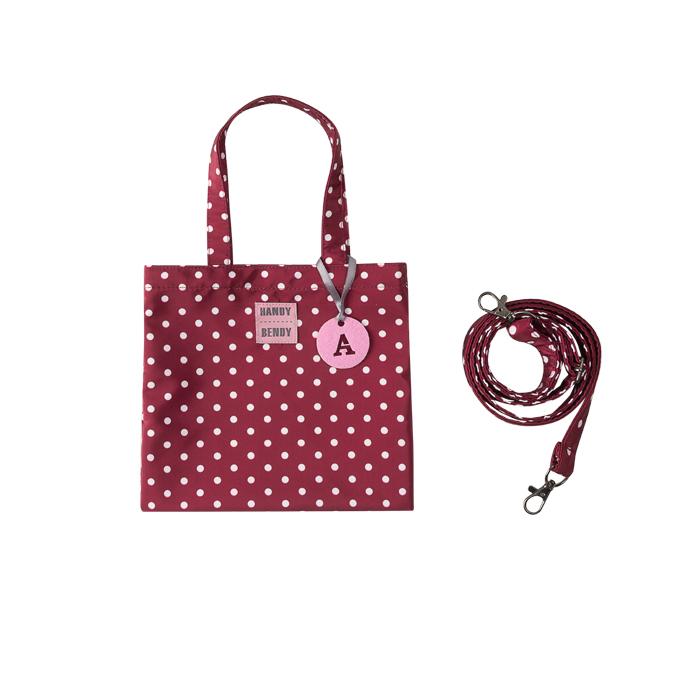 Купить Detskaya s bukvoi, Маленькая сумка Handy Bendy со съемной ручкой и медальоном, бордо в горох, Детские сумки