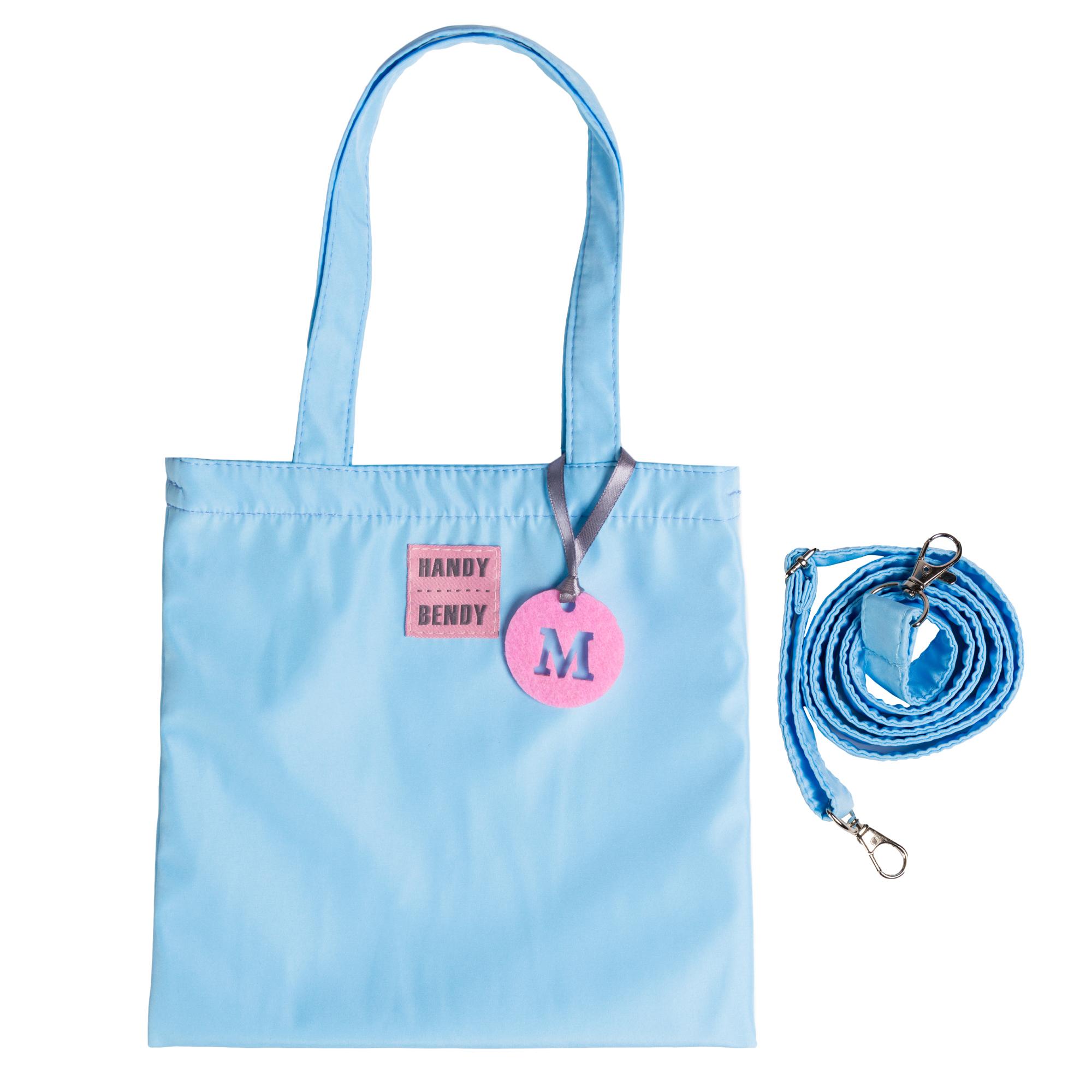 Маленькая сумка Handy Bendy со съемной ручкой и медальоном, голубой