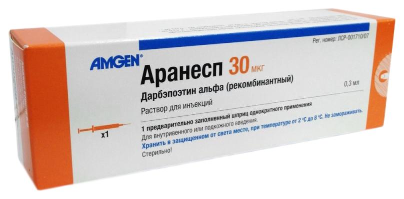 Аранесп раствор для инъекций 30мкг шприц