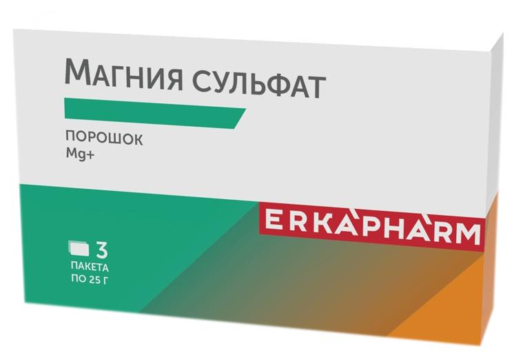 Эркафарм Магния сульфат пор. д/приг. р