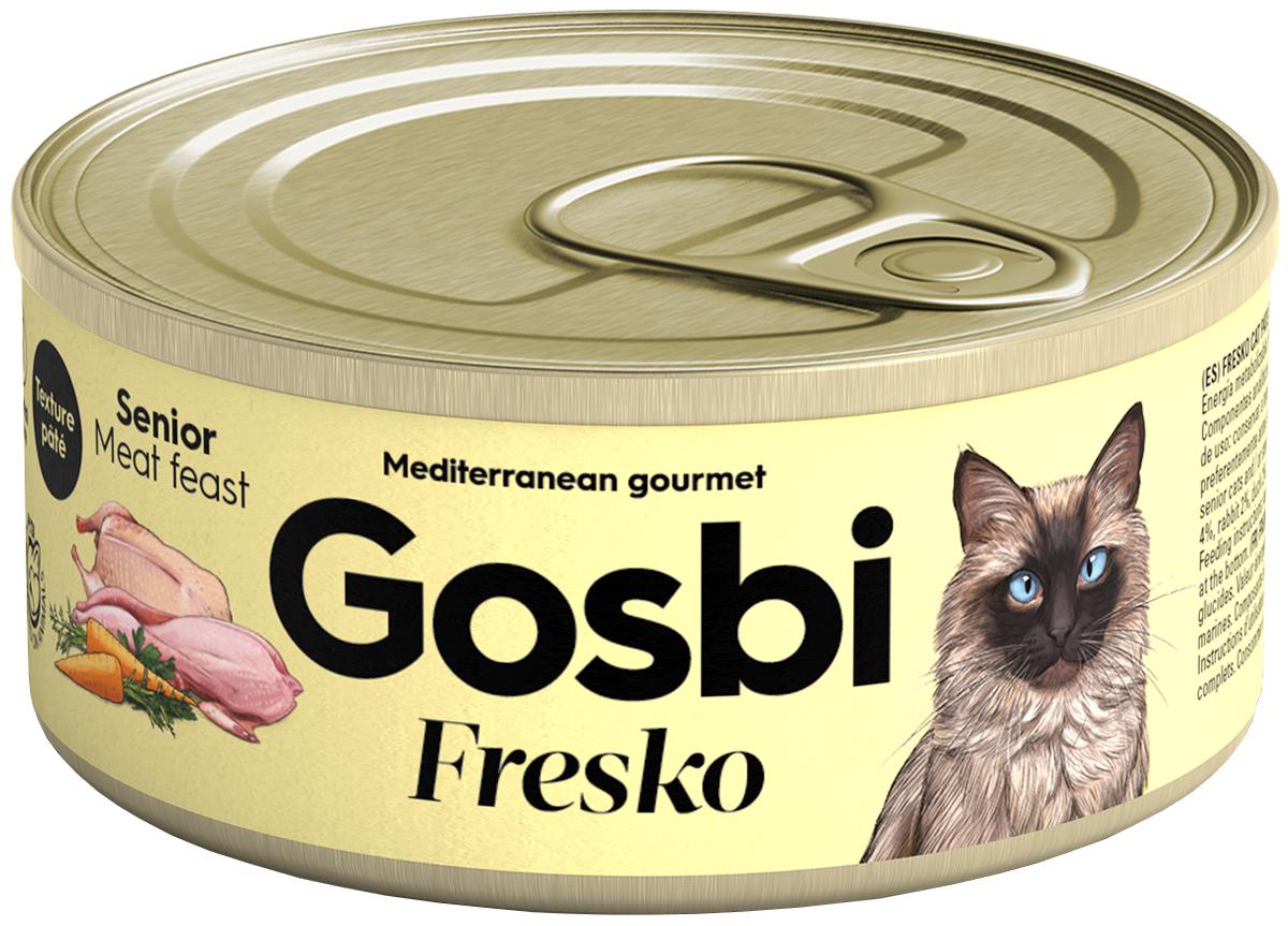 Консервы для кошек Gosbi Fresko Senior, беззерновые
