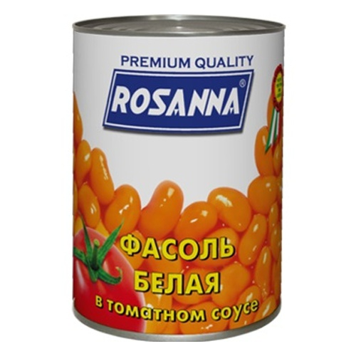 Фасоль Rosanna белая в томатном соусе 400 гр