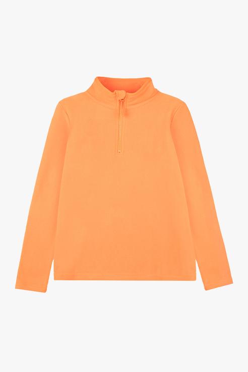 Купить 32011060_оранжевый, Флисовая толстовка PlayToday 32011060 р.128, Play Today,