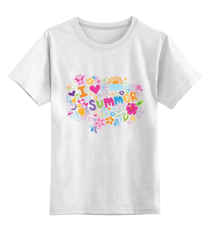 Детская футболка Printio Я люблю лето цв.белый р.164 0000000757954 по цене 728