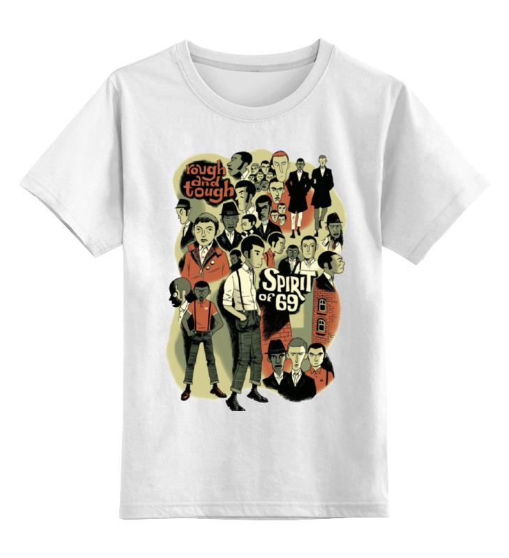 Купить 0000000755455, Детская футболка Printio The spirit of 69 цв.белый р.164,