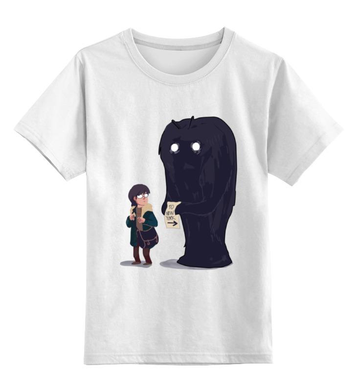 Купить 0000000753476, Детская футболка Printio To new york цв.белый р.164,