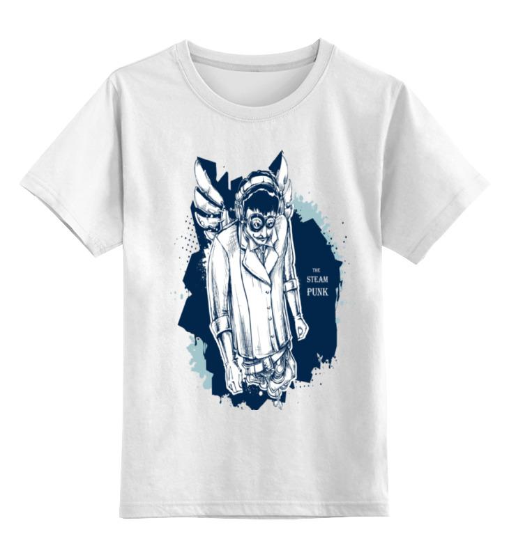 Купить 0000000753433, Детская футболка Printio The steampunk цв.белый р.164,