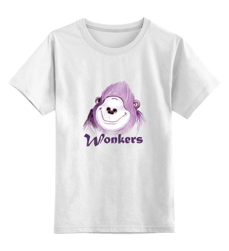 Купить 0000000753051, Детская футболка Printio Wonkers the watilla цв.белый р.164,