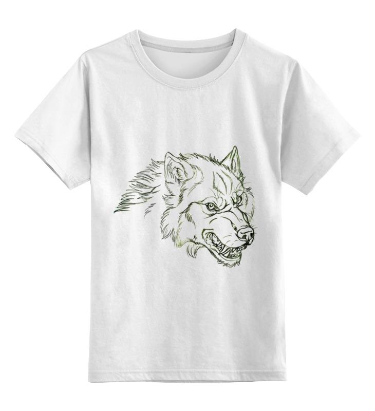Детская футболка Printio Angry wolf толстовка цв.белый р.164 0000000752448 по цене 790