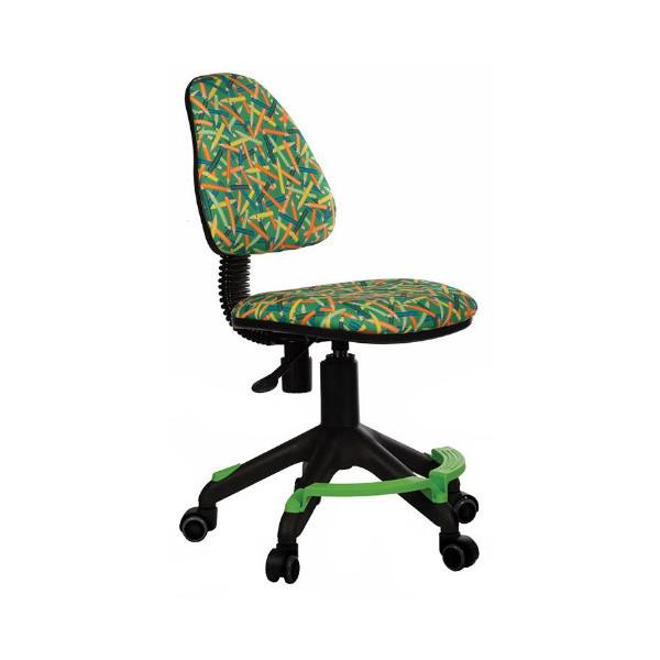 Купить Кресло детское Бюрократ зеленый, Детские стульчики